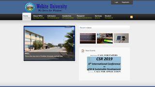 Wolkite University - Educate Ethiopia Educate Ethiopia